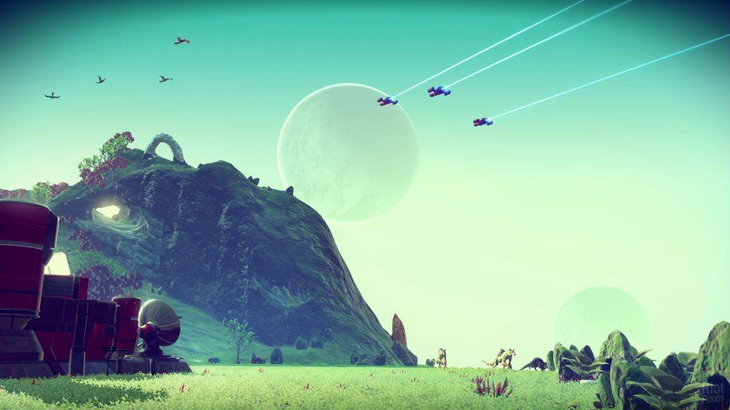 No Man's Review Screenshot, the landscapes are beautiful!