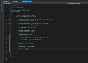 Console Login App Example