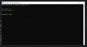Random Winner From XML C# Application