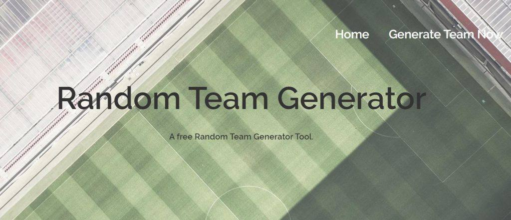 A random team generator is a great first coding project for beginners.