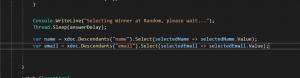 Thread.Sleep example code snippet