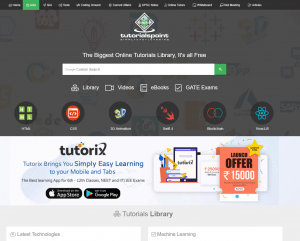 Tutorials Point, the biggest online tutorials library!