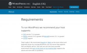 Wordpress Requirements.