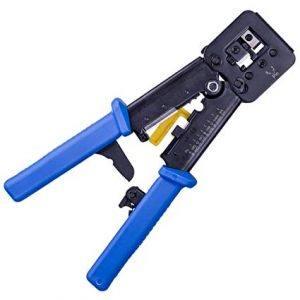 An image of an RJ45 crimp tool.