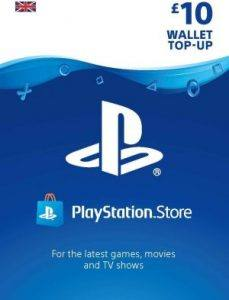 An image of a Playstation Store Top Up Voucher for our Christmas Gift Guide