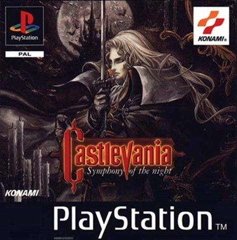 An image showing the cover of rare PS1 game, Castlevania.