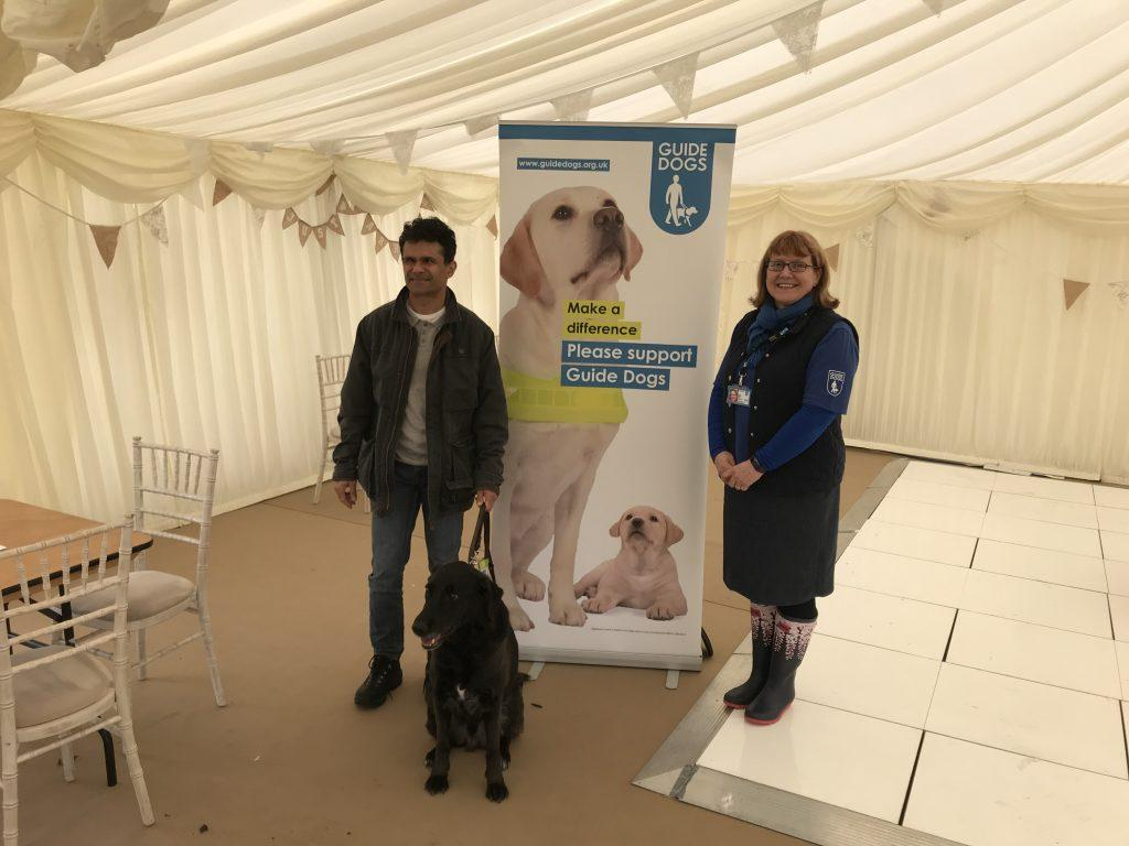 Technology to help the visually impaired image shows Haseeb Ahmad at a Guide Dog UK event