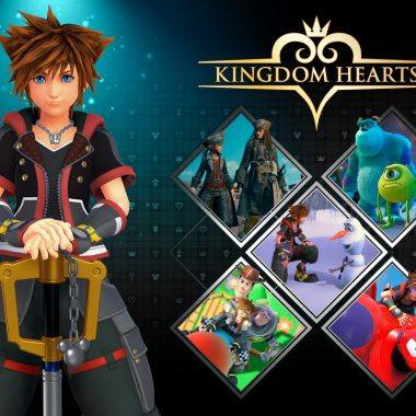 An image showing a Kingdom Hearts banner with main character Sora.