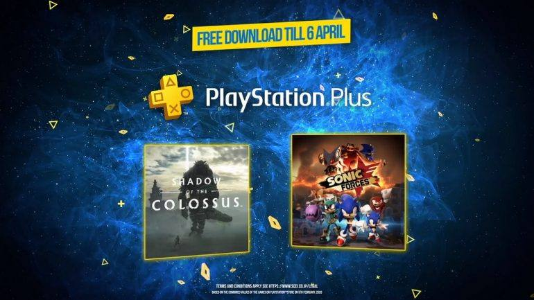 Playstation Plus April 2020 - Previous (March) games include Sonic Forces