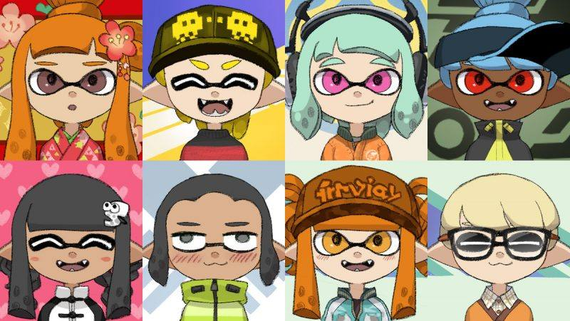Make your own avatar with this free Splatoon Character Maker
