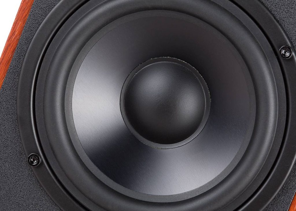 R2000DB Review: A closeup shot of the awesome sub-woofer driver.
