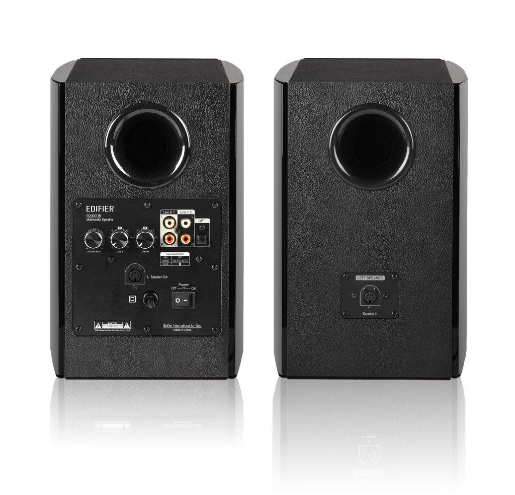 Edifier R2000DB Review: The rear bass ports.