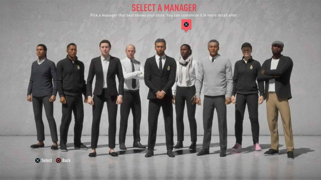 A diverse range of managers to choose from.