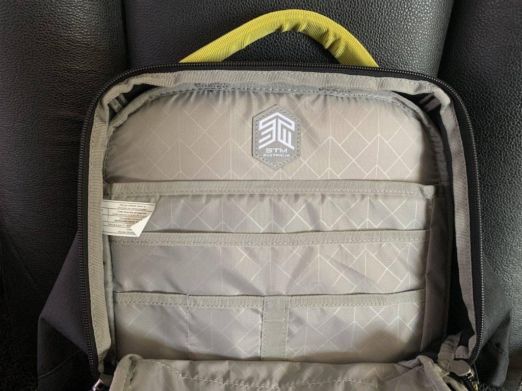 The STM Saga backpack has well organised internal pockets.