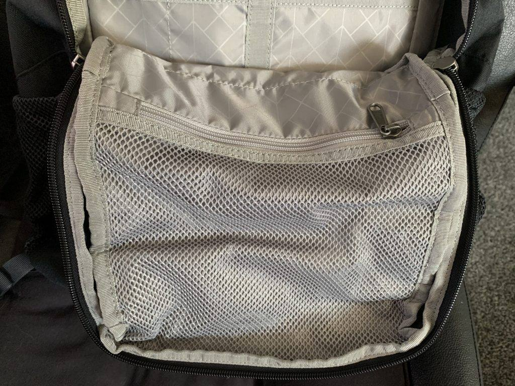 STM Saga Backpack Review: The mesh pocket is great for storing loose items.