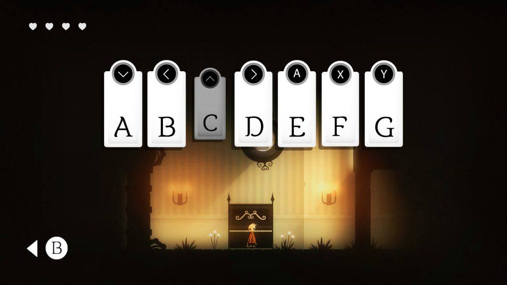 One of the puzzles in the game, you'll need to play a tune.