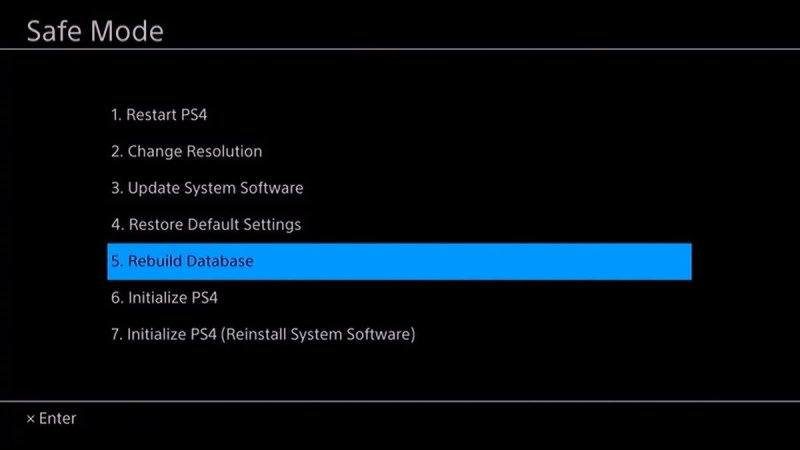 Rebuild your PS4 Database to make it faster.