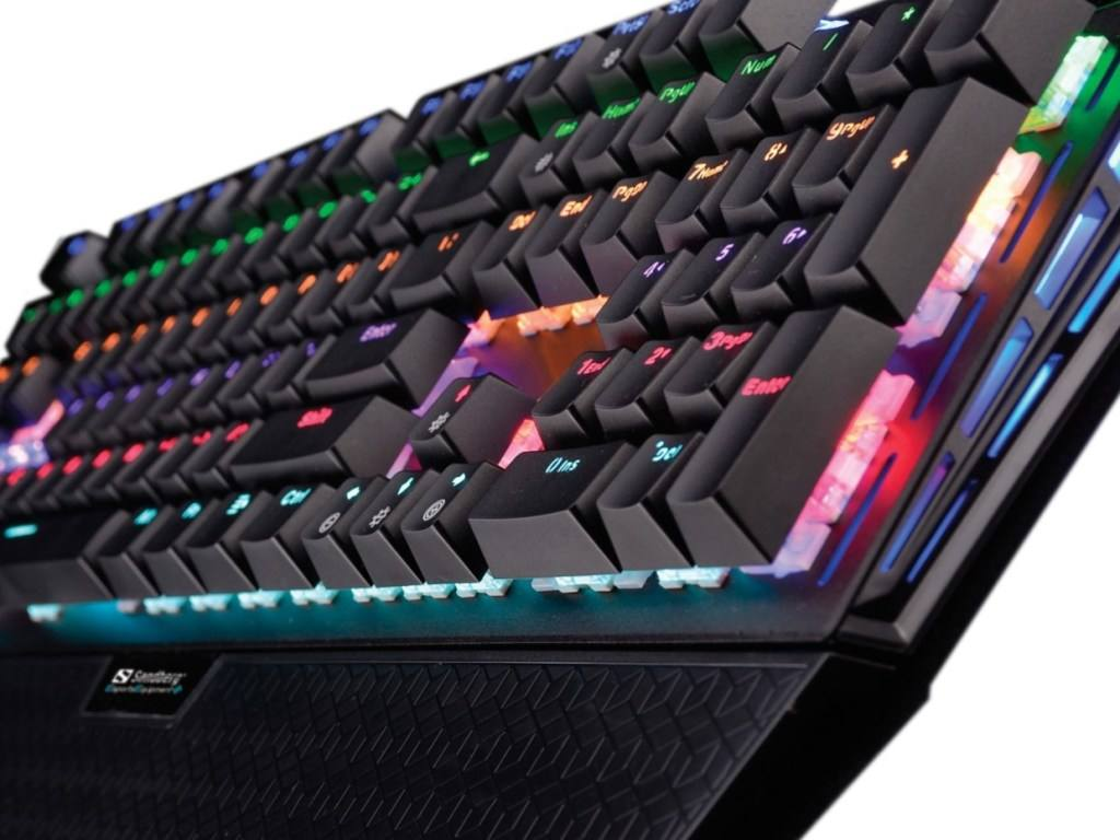 Close up of the Sandberg FireStorm Mechanical Keyboard