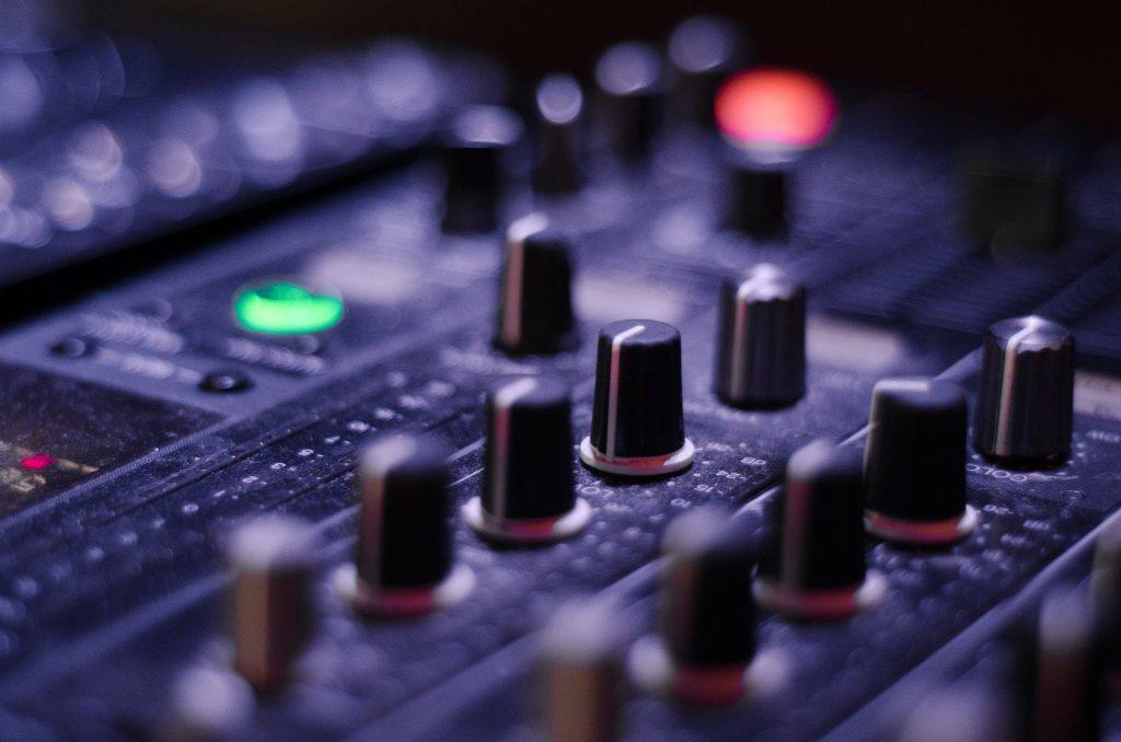 An Audio Mixer whilst not required is useful to have.