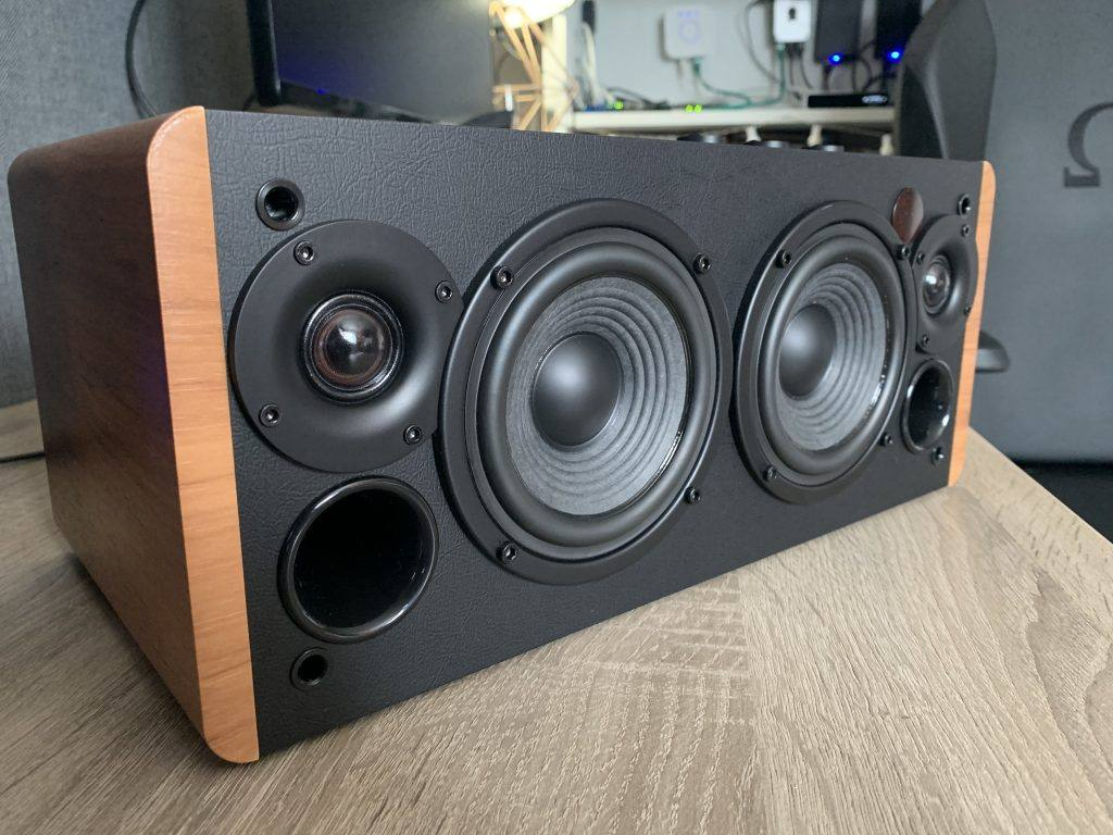 Edifier D12 Review - Dust cover removed.